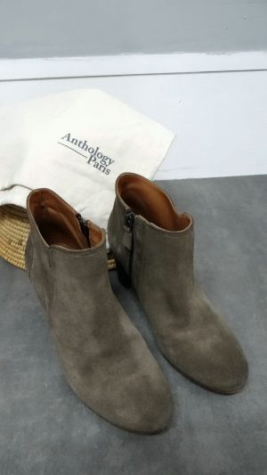 Bottines daim taupe Anthologie 36,5