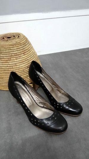 Escarpins cuir noir Bruuns Bazaar 37