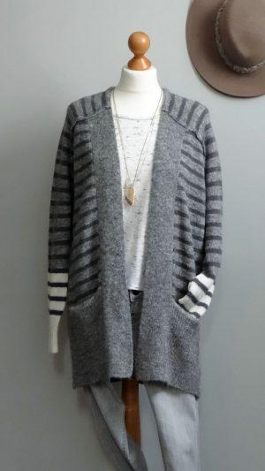 Cardigan rayures laine mélangée Berenice 38