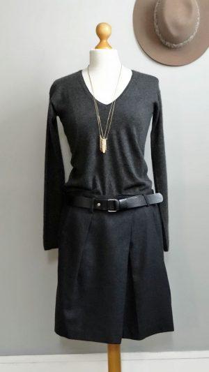 Jupe ceinture cuir Comptoir des Cotonniers 40