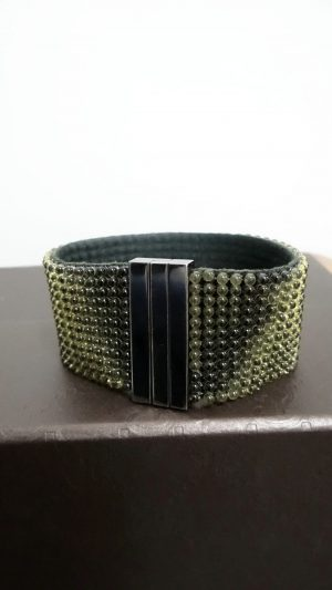 Bracelet manchette souple Daniel Swarovski