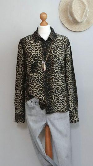 Chemisier soie leopard Stella Forest 42