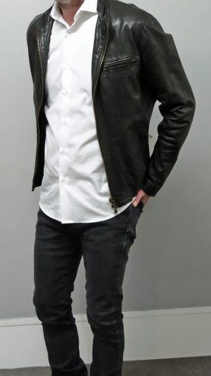 Veste cuir noir Empresa 48 FR