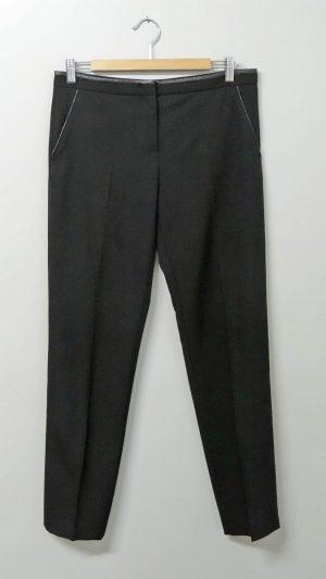 Pantalon noir bords simili cuir Gérard Darel 38