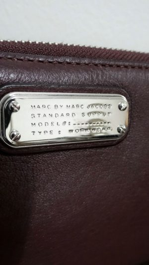 Portefeuille cuir prune Marc By Martc Jacobs