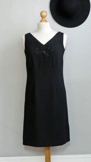 Robe noire broderies perles Zapa 38