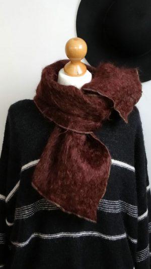 Echarpe laine bordeaux Philippe Model Paris