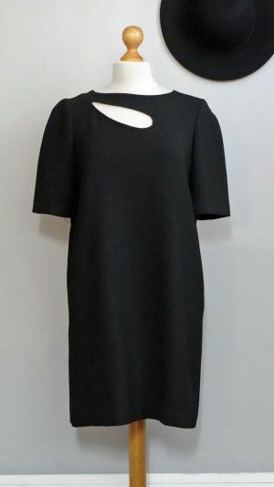 Robe noire fente haut Tara Jarmon 40