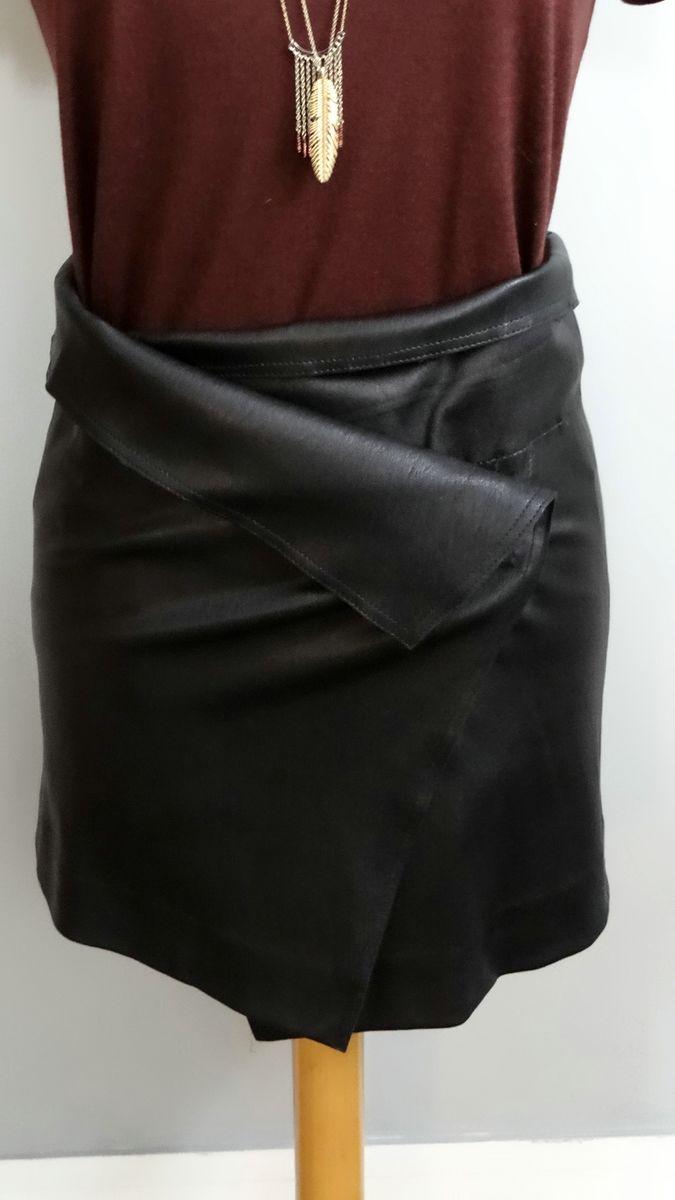 nouveau produit 87530 2af4d Jupe cuir portefeuille sur mesure 36