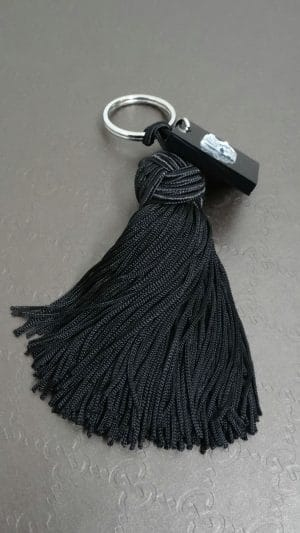 Porte-clés pompon Lalique