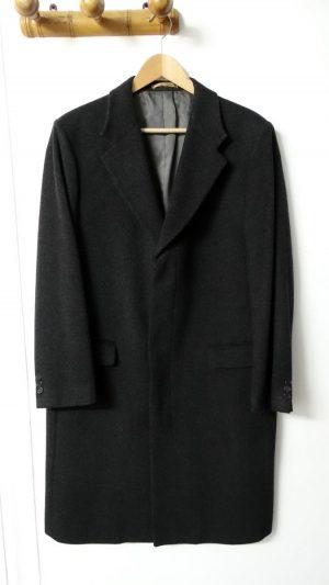 Manteau cachemire gris Yves Saint Laurent 52