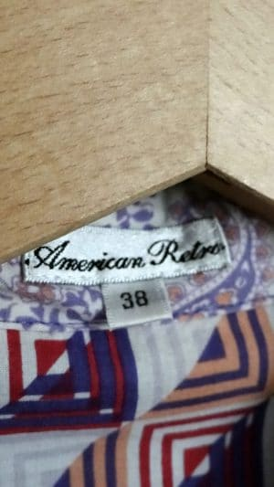 Chemisier imprimés American Retro