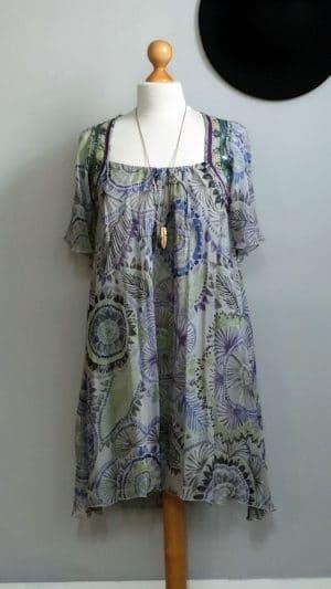 Robe imprimés broderies Antik Batik 36