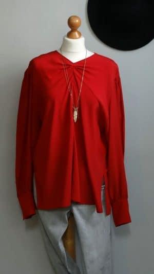 Blouse soie rouge Isabel Marant 40