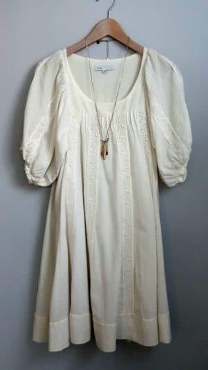 Robe coton broderies Maje