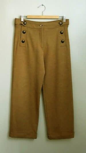 Pantalon taille haute beige Pablo