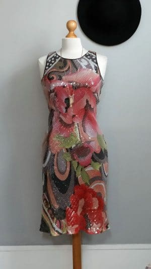 Robe floral paillettes Renato Nucci