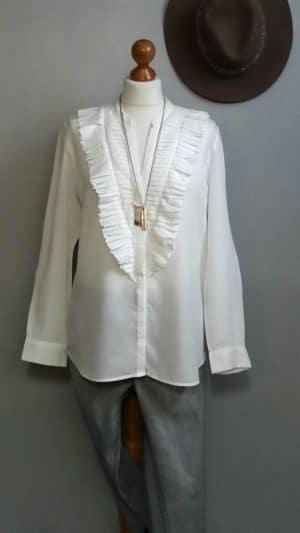 Chemise blanche plastron Sandro 40
