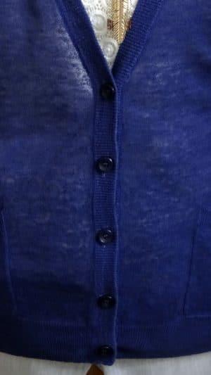 Gilet lin bleu noeud Sandro