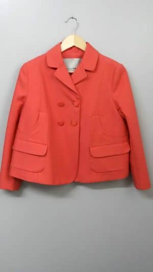 Veste paletot orange Mademoiselle Tara