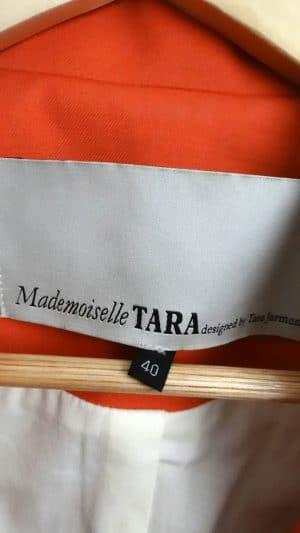 Veste paletot orange Mademoiselle Tara