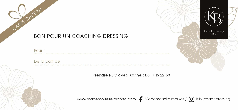 Carte Cadeau Coaching Dressing avec Karine